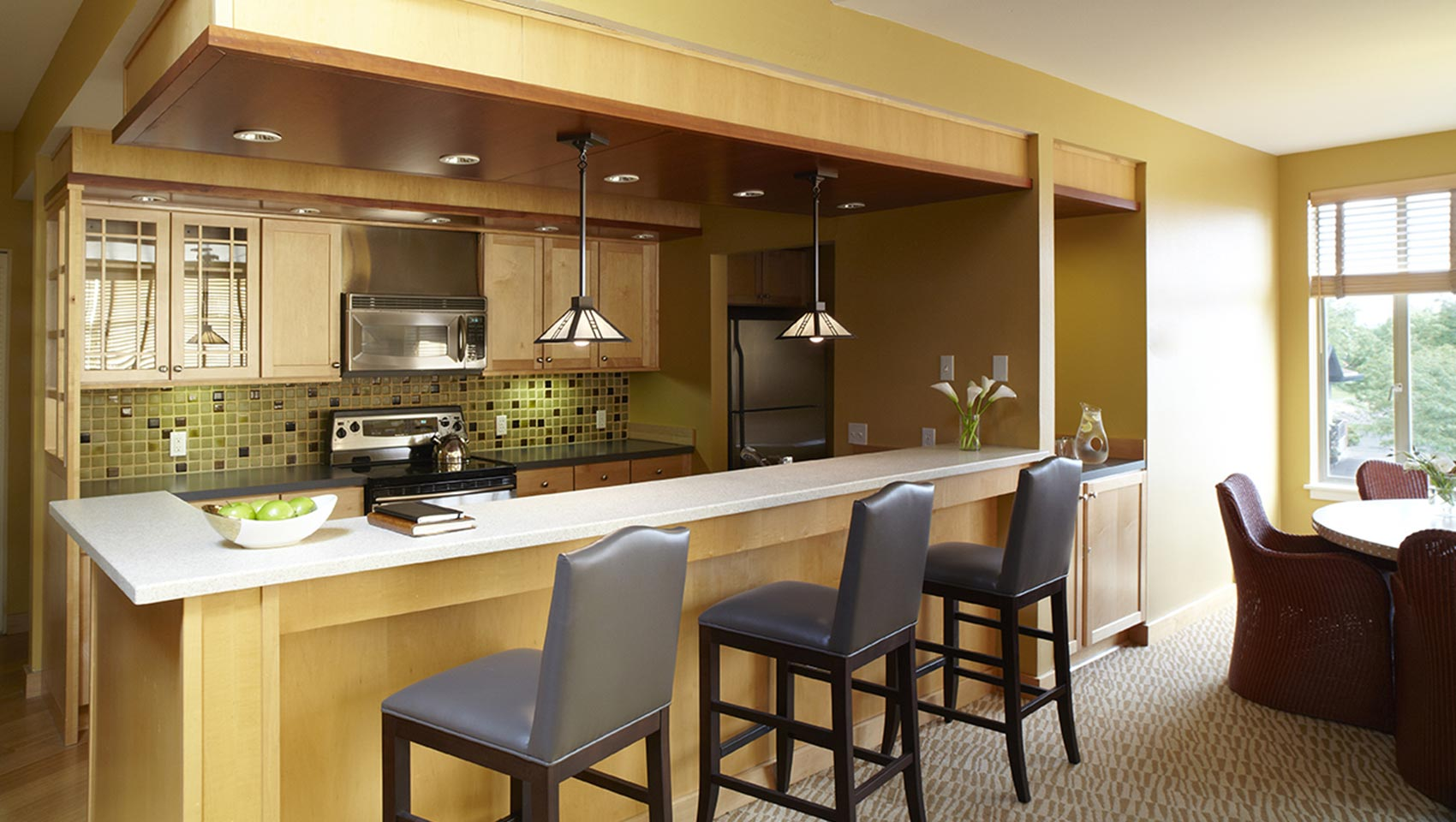 Kimpton RiverPlace Marina Suite Kitchen