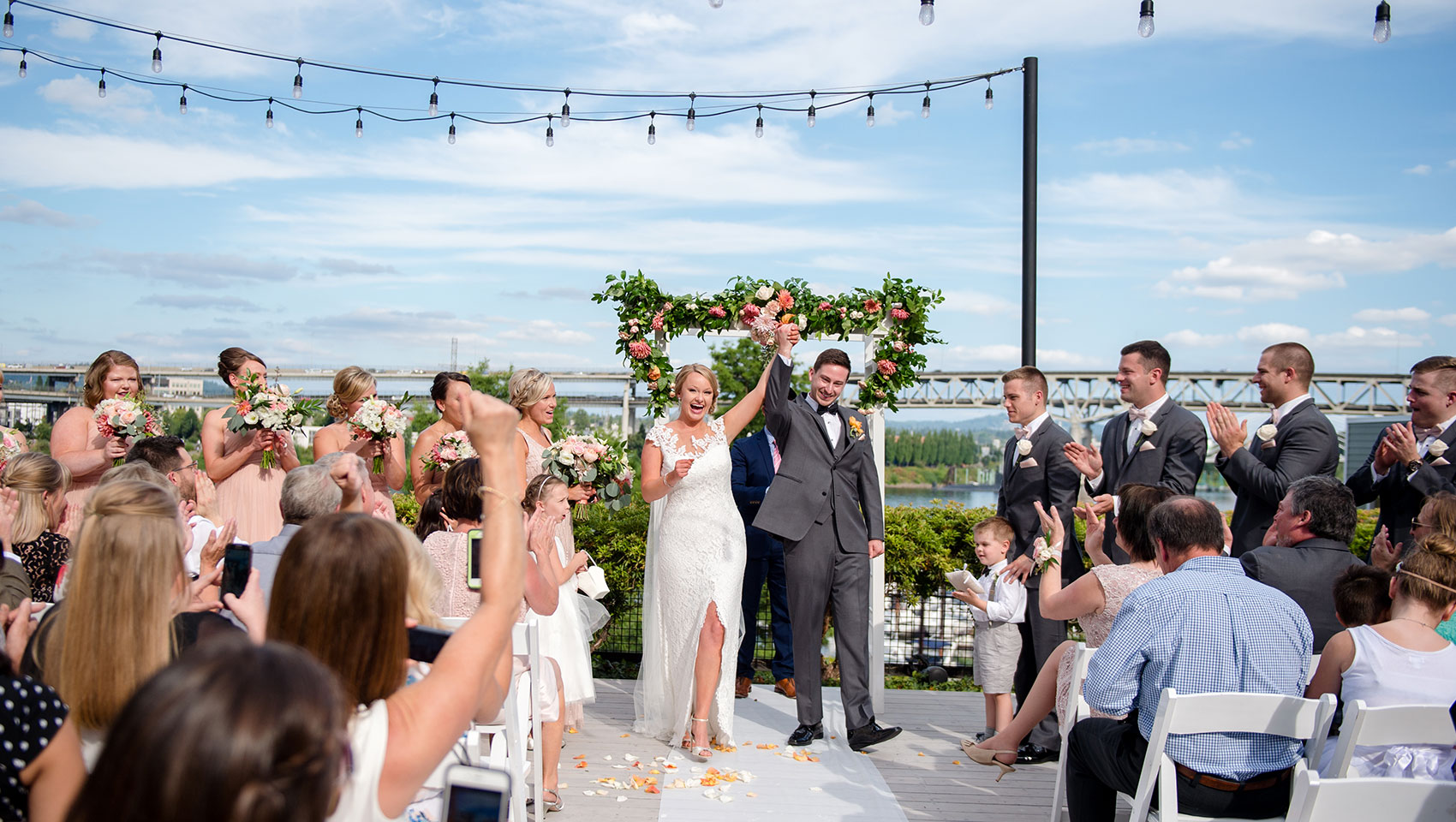 RiverPlace Wedding Party Celebrates