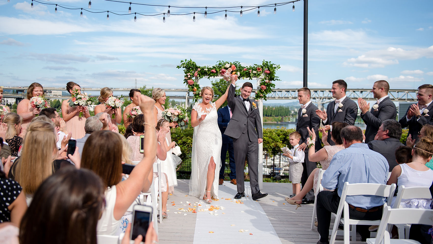 kimpton portland riverplace hotel wedding ceremony celebration
