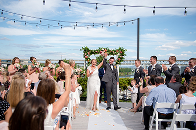 outdoor wedding ceremony downtown